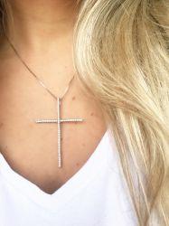 Crucifixo Rodio Fino (corrente 55cm)