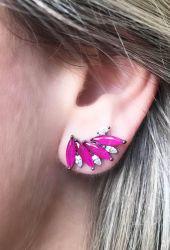 Ear Cuff navete rosa