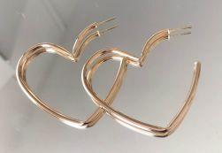 Argola Coração Rodio ou Dourado