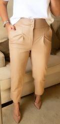 Calça couro  alfaiataria