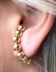 Ear Hook bolas meia volta (vem o par)