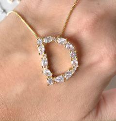 Novo colar inicial zirconias Nati